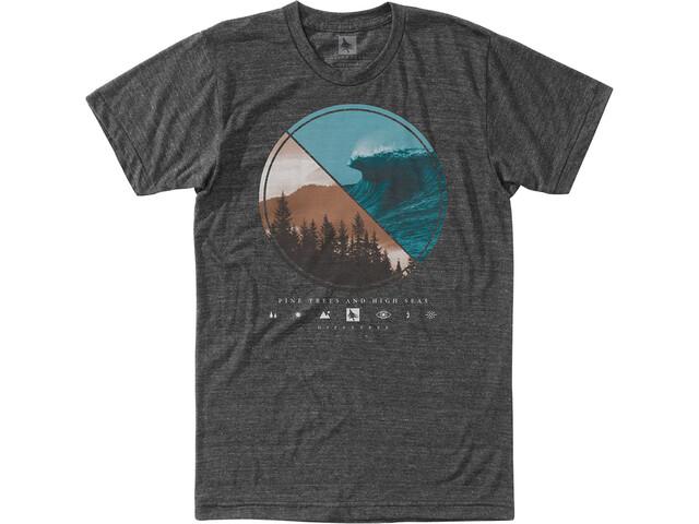 Hippy Tree Lens T-Shirt Heren, heather charcoal